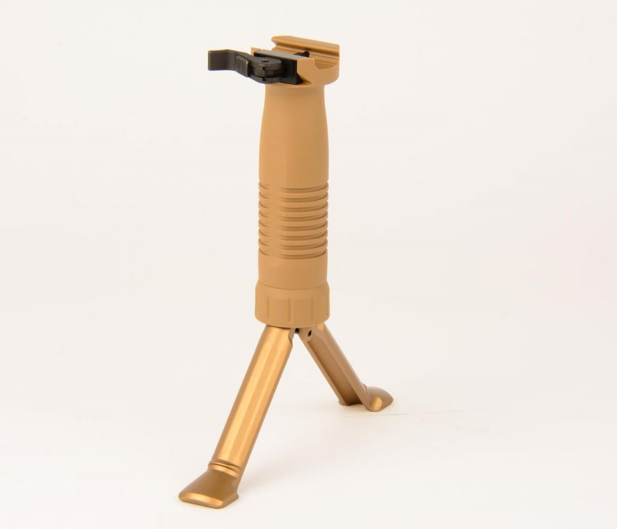 Vertical QD foregrip with integrated bipod (Grip-Pod) Coyote Tan